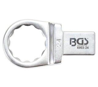 BGS 6903-24 Einsteckwerkzeug Einsteck-Ringschlüssel SW 24  14 x 18 mm Drehmoment