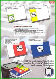 Werkstattwageneinlage 1//3 Steckschlüssel-Satz41-tlg.